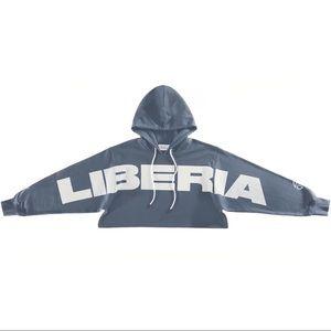 Telfar Crop Hoodie - Liberia